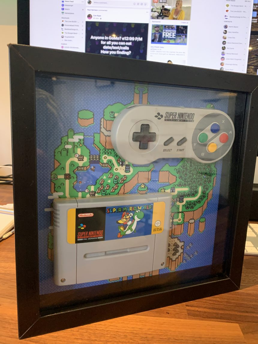 SNES Game and Controller Frame
