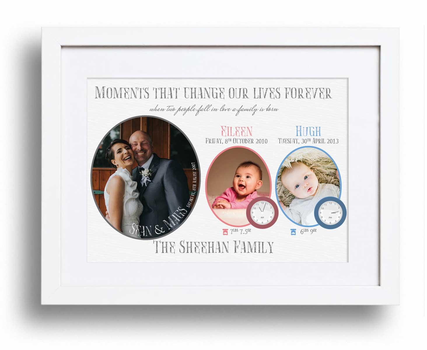 Family Moments Framed Print